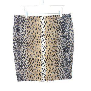 Michal Kors Animal Print Pencil Skirt Size 14